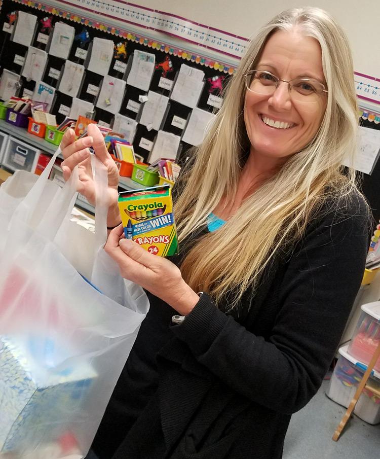 OTB Teacher with supplies